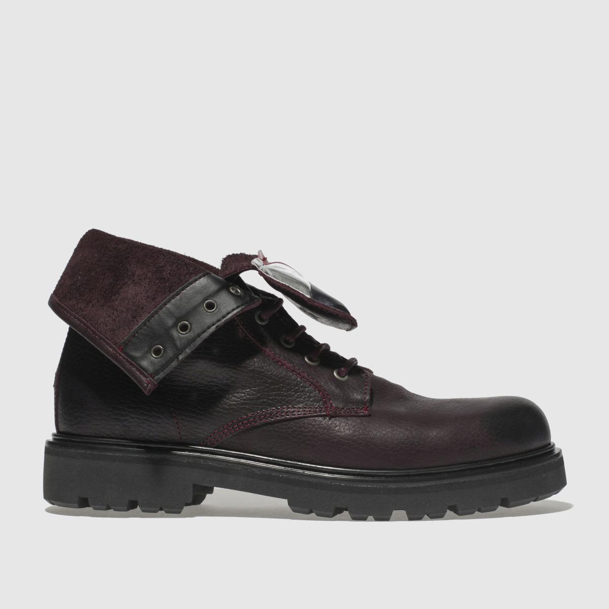 Tommy Hilfiger Burgundy Tj Big Flag Lace Up Boots