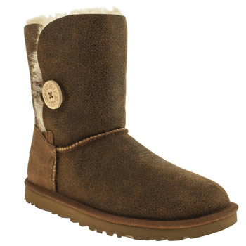 Womens Ugg Australia Tan Bailey Button Bomber Boots