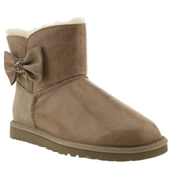 womens ugg australia grey mini bailey bow crystal boots