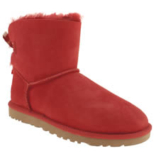 Red Ugg Australia Mini Bailey Bow Stripe