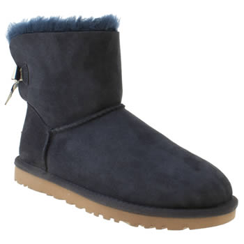 womens ugg australia navy mini bailey bow stripe boots
