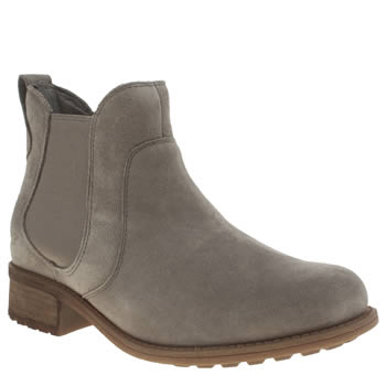 Womens Ugg Australia Light Grey Bonham Chelsea Boots