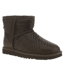 Ugg Australia Brown Classic Mini Woven Womens Boots