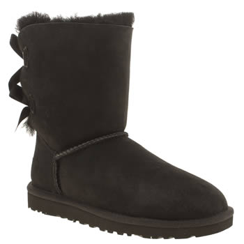 Ugg Australia Black Mini Bailey Bow Womens Boots