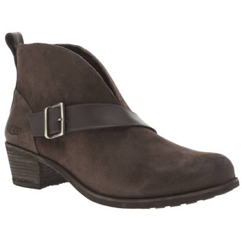 Ugg Australia Brown Wright Belted Womens Boots