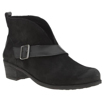 Ugg Australia Black Wright Belted Womens Boots