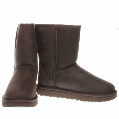 ugg classic short ii boots brownstone leather