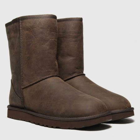classic short leather ugg boots