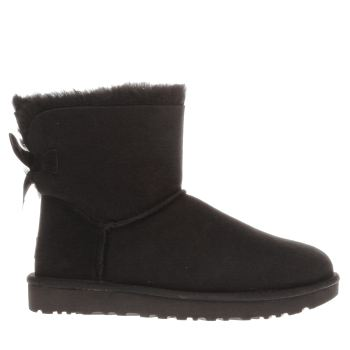 Ugg Australia Black Mini Bailey Bow Ii Womens Boots