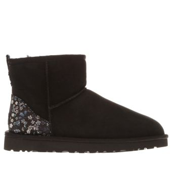 Ugg Australia Black and blue Classic Mini Liberty Womens Boots