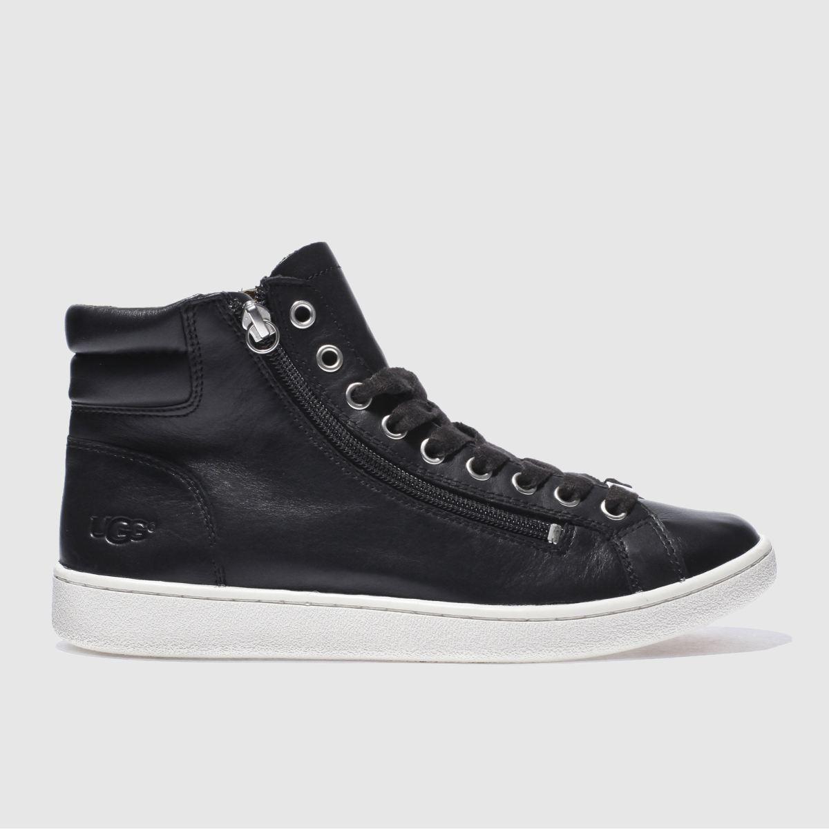 Ugg Black & White Olive Boots