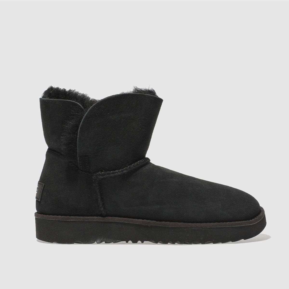 ugg black classic cuff mini boots