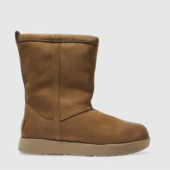 Ugg Blassbraun Classic Short Leather Wp Damen Boots