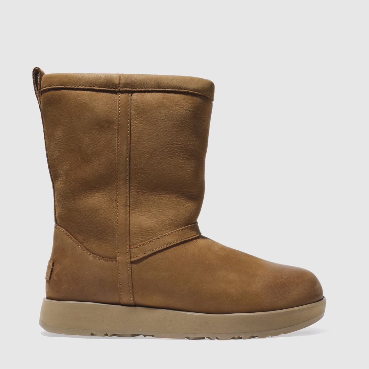 ugg tan classic short leather wp boots