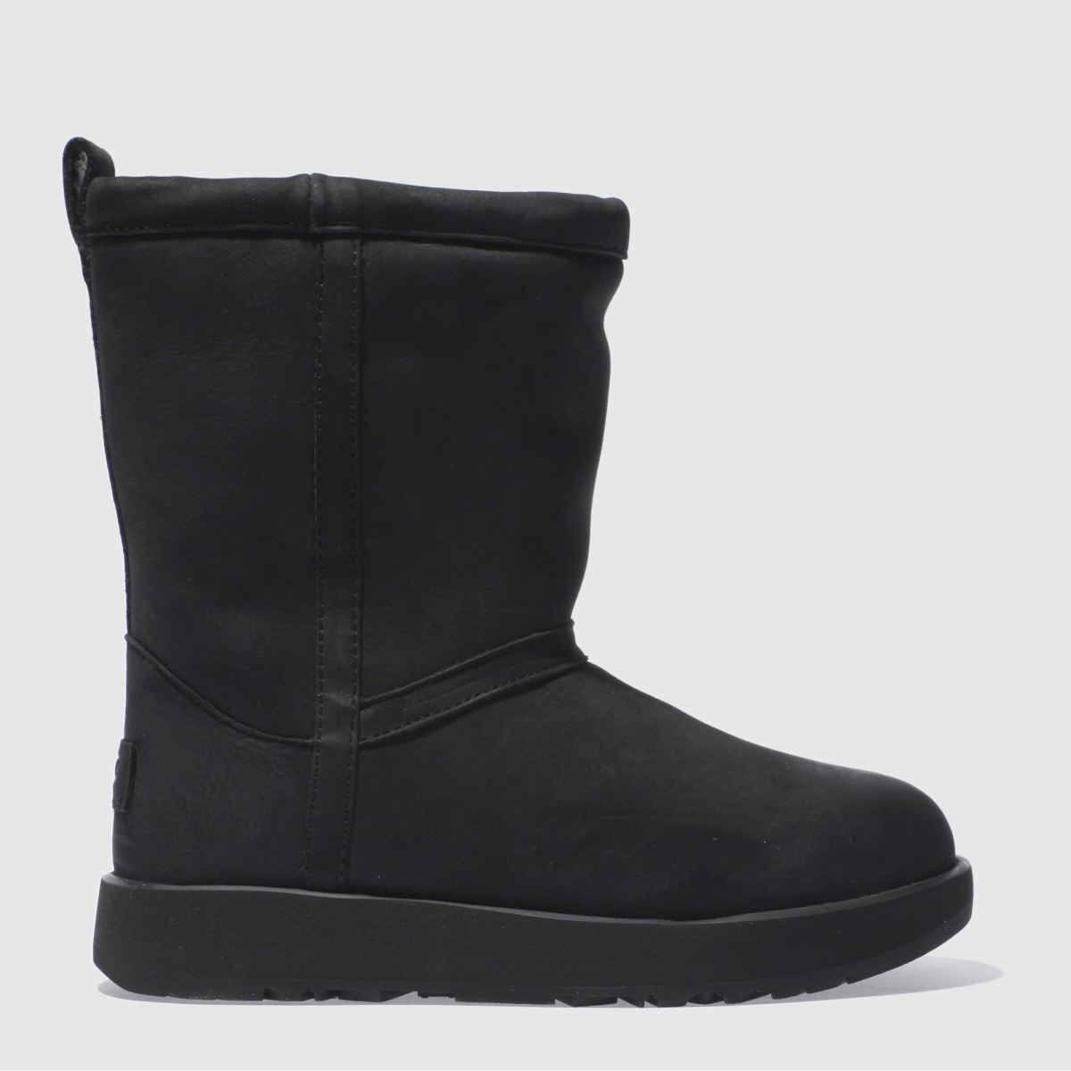 ugg black classic short leather wp boots