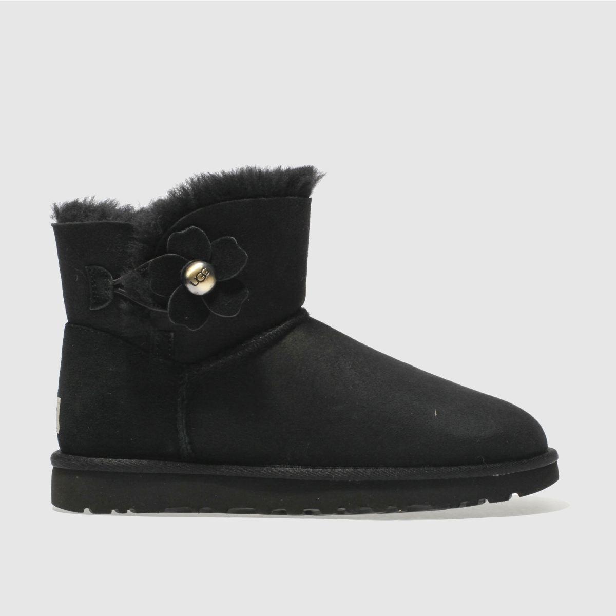 Ugg Black Mini Bailey Button Poppy Boots