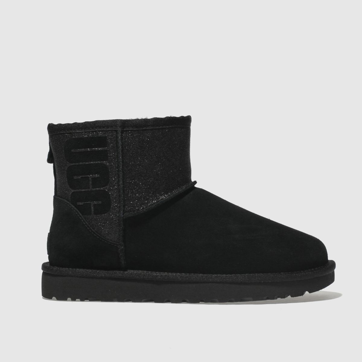 Ugg Black Classic Mini Sparkle Boots