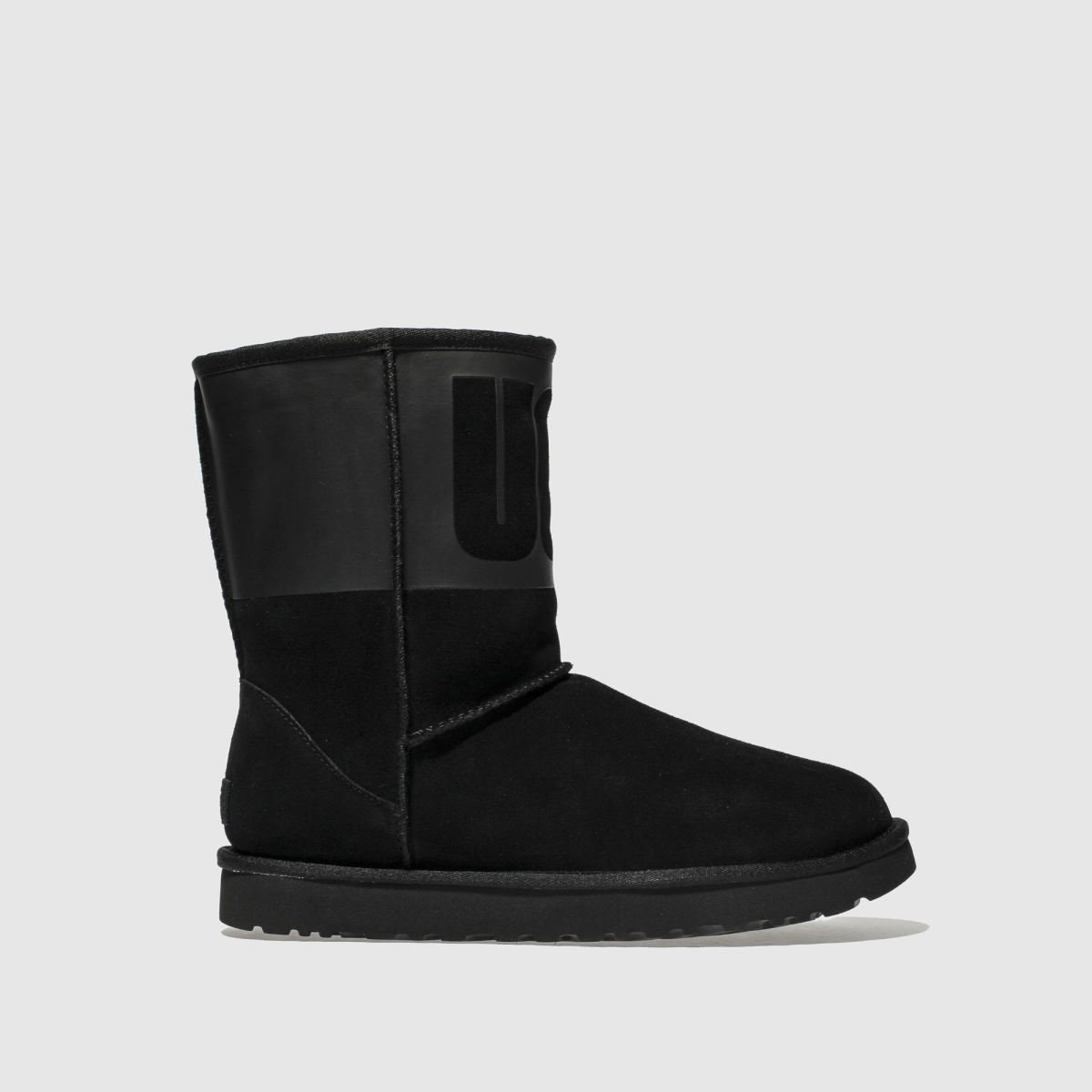 Ugg Black Classic Short Rubber Boots
