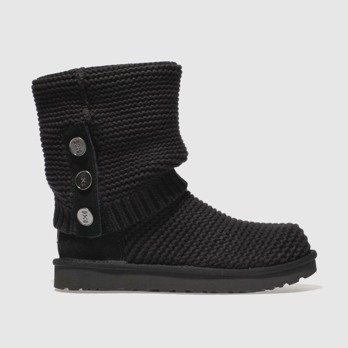 Ugg Black Purl Cardy Knit Boots
