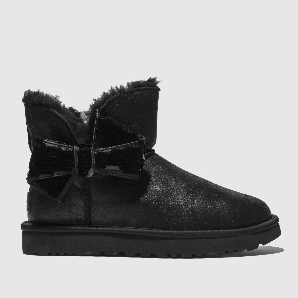 Ugg Black Mini Sequin Bow Boots