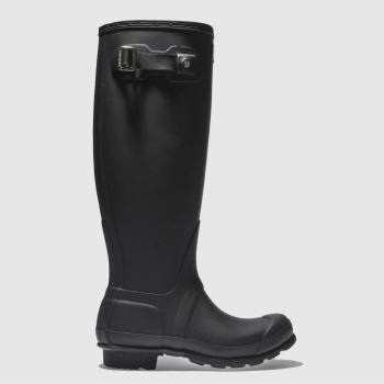 Womens Hunter Black Original Wellie Boots