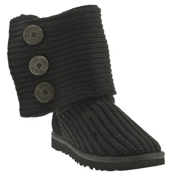 womens ugg australia black classic cardy boots
