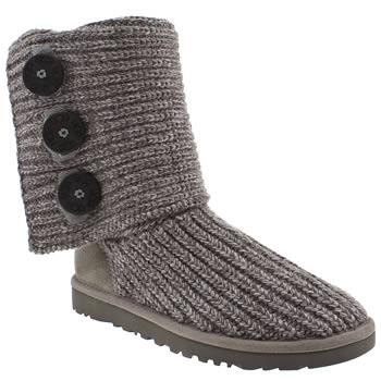 Womens Ugg Australia Grey Classic Cardy Boots