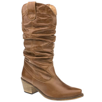 Schuh Tan Gily Slouch Cowboy Boots