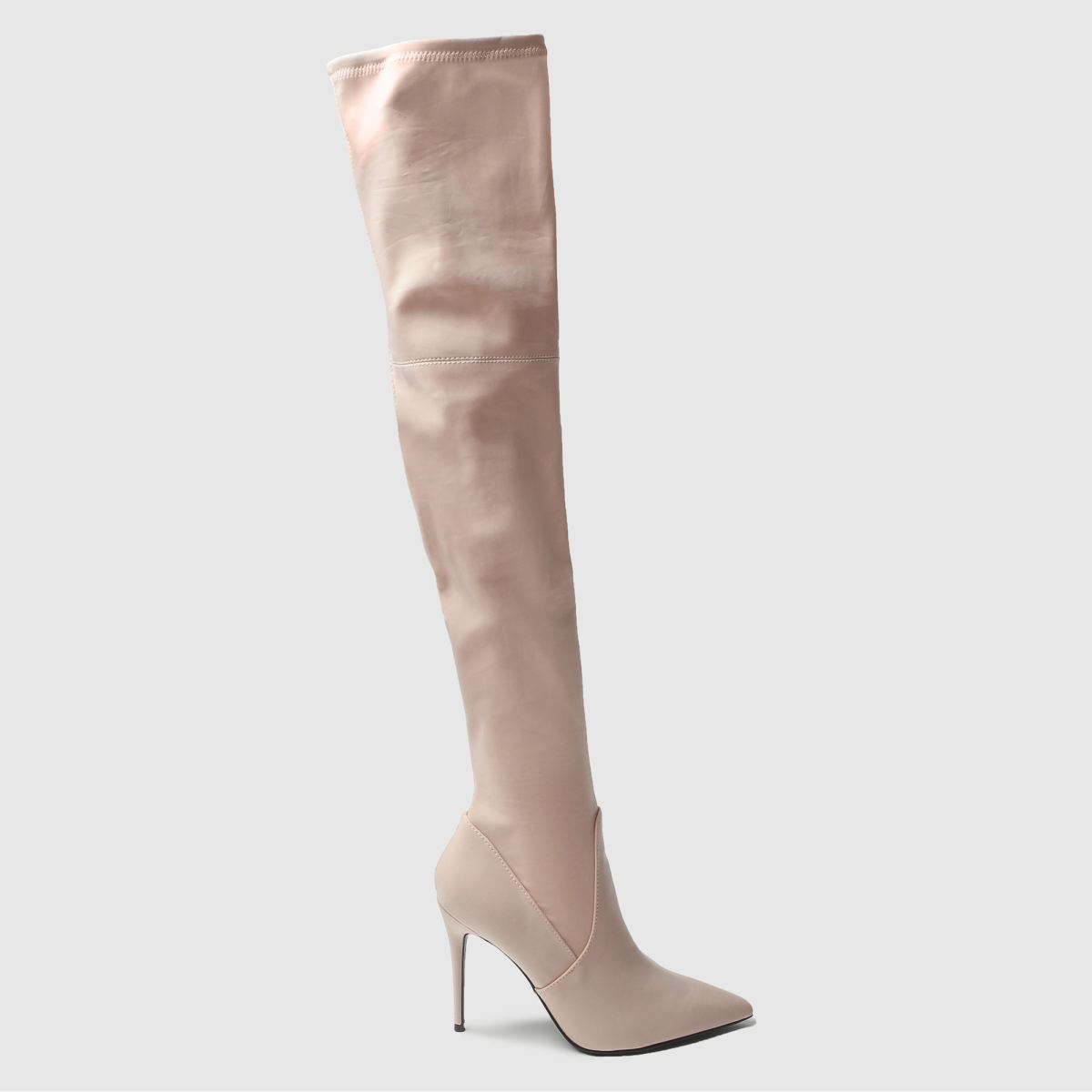 schuh pale pink wild side boots