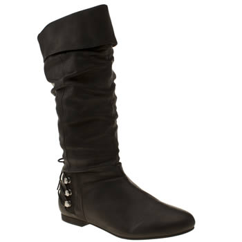 womens schuh black back up boots