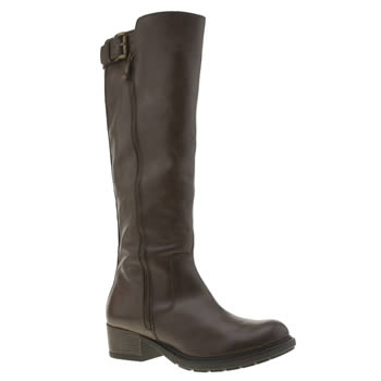 Womens Schuh Brown Ride Boots
