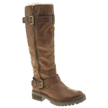 Womens Schuh Tan Fast Lane Boots
