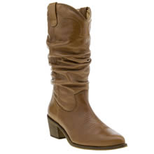 Schuh Tan Road Runner Womens Boots