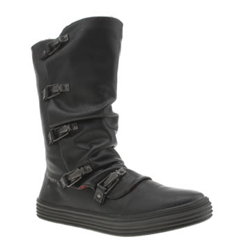 Womens Blowfish Black Opah Shearling Boots