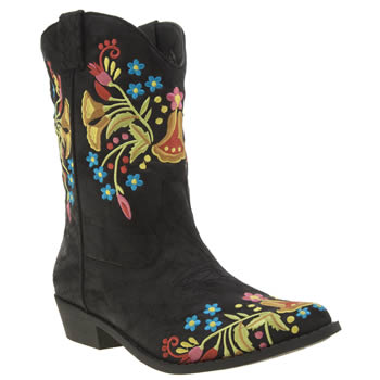 Coconuts Black Consuelo Womens Boots
