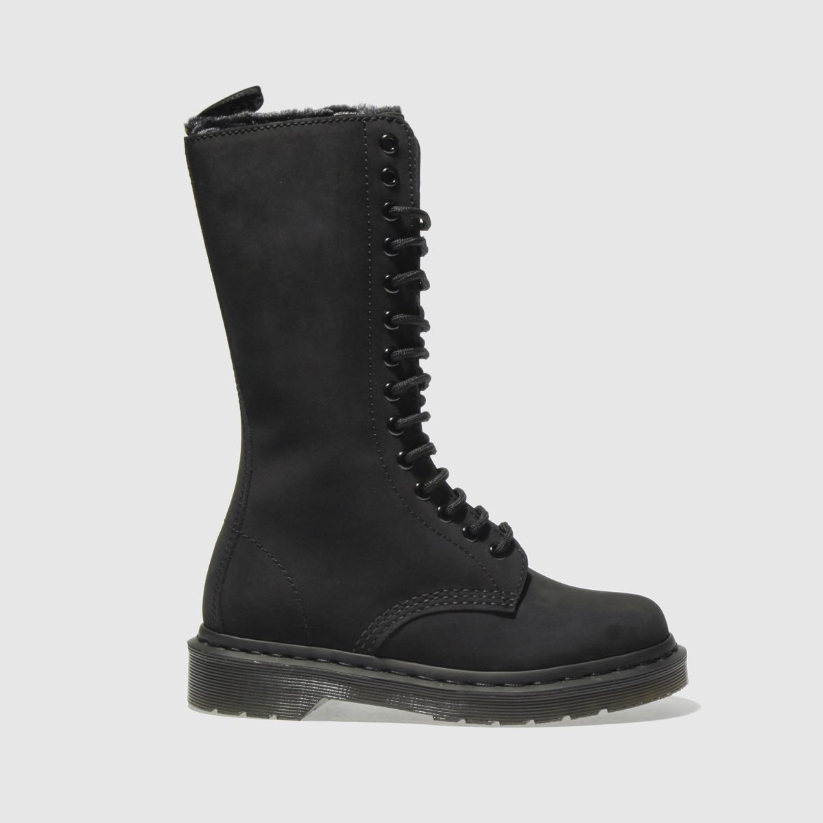 dr martens black dm 1b99 fl 14 eye zip boot boots