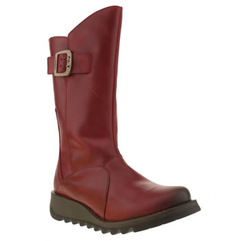 womens fly london red sminx ses boots