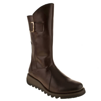 womens fly london dark brown sminx ses warm boots