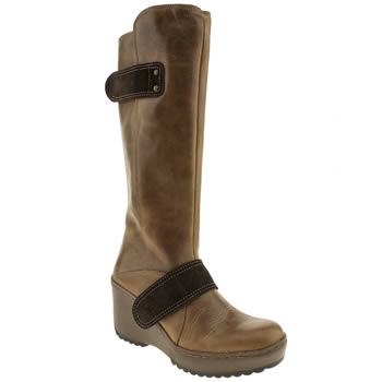 womens fly london tan morganne mux boots