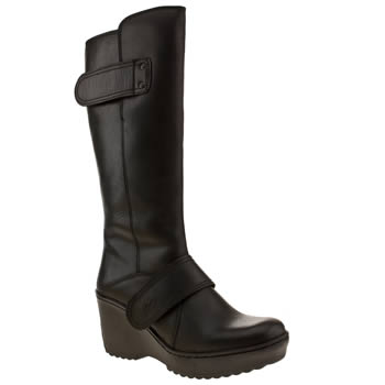 womens fly london black morganne mux boots