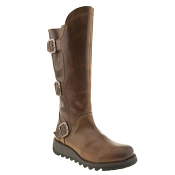 womens fly london tan sminx synd warm ii boots