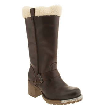 Womens Fly London Dark Brown Lieb Warm Boots