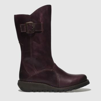Womens Fly London Purple Mes 3 Boots