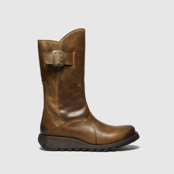 Fly London Tan Mes 3 Warm Boots
