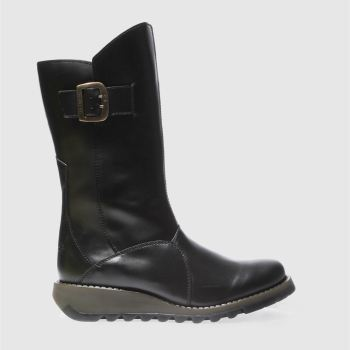 Womens Fly London Black Mes 3 Boots