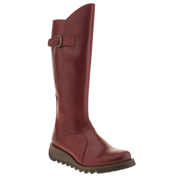 womens fly london red mol 2 boots