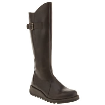 Womens Fly London Dark Brown Mol 2 Boots