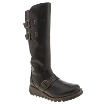 Womens Fly London Black Solv Warm Boots
