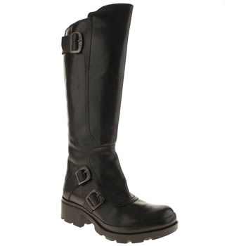Womens Fly London Black Mima Boots