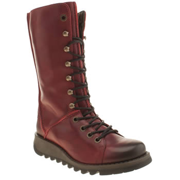 Womens Fly London Red Seik Boots
